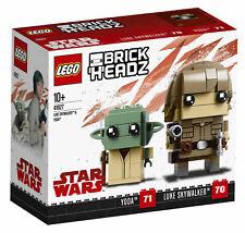 LEGO BrickHeadz Luke Skywalker & Yoda 41627 - New - Free P+P!!