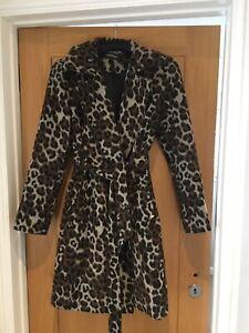 Ellen Tracey Leopard Print Coat Size 10