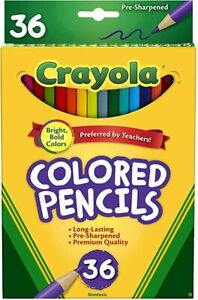 Crayola Colored Pencils Set, School Supplies, Presharpened, 36 Count - 0369