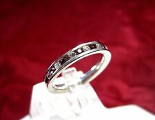 925 STERLING SILVER ROUND STONE ETERNITY PAVE SETTING RING BAND SIZE 7.25