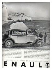 PUBLICITE  auto RENAULT BERLINE SPORT NERVASTELLA  1931