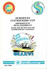 More details for 1983 european cup winners cup final  aberdeen v real madrid  mint