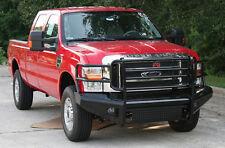 Fab Fours FS08-S1960-1 (IN STOCK) Black Steel Bumper 08-10 Ford Super Duty