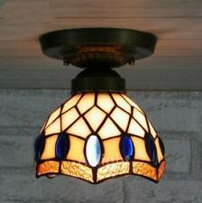 Tiffany Ceiling Light Brief Stained Glass Hanging Lamp for Kitchen Hall Porch