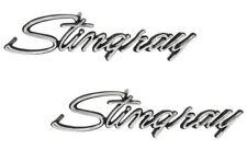 1974-76 C3 Corvette Stingray Fender Emblems PAIR Replaces OE 3956216