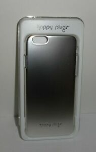 *NEW* Happy Plugs Deluxe Slim Case for iPhone 6/6S  Silver *NEW*