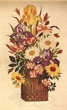 "Vintage Paragon ""Garden Beauties"" Flower Bouquet Crewel Embroidery Kit"