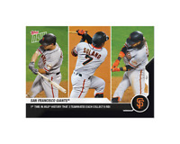San Francisco Giants - MLB TOPPS NOW Card 191 - 3 teammates each collect 6 RBI