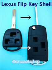 LEXUS 3 Button Flip remote key case shell for IS200 IS300 LS400 LS430 GX470