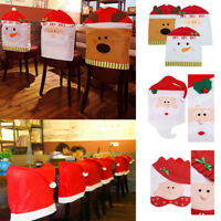 2018 Santa Claus Christmas Dinner Banquet Chair Back Cover Party Xmas Decor BJ