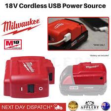 Milwaukee 18V Cordless USB Power Source Charging Adapter Li Ion M18USBPSHJ2
