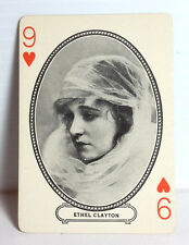 1916  ETHEL CLAYTON  Moriarty Movie Star Playing/Trading Card- FREE S&H (F1027)