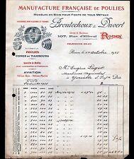 """ROUEN (76) USINE de POULIES & HELICES d'AVION """"BROUTECHOUX & DUVERT"""" en 1925"""