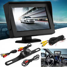 "Car Backup Camera Rear View System Night Vision + 4.3"" TFT LCD RearView Monitor"
