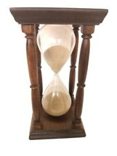 Vintage 60 Minute Hourglass with Wood Stand