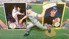 """1990  DAVE RIGHETTI - Starting Lineup -SLU - Loose With """"TWO"""" Cards - N.Y. Yanks"""