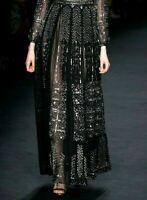 New $17000 VALENTINO Embellished Long Maxi Black Dress Runway Skirt US 2 4 IT 40