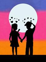 "BANKSY STREET ART CANVAS PRINT love hurts stars hearts 8""X 12"" poster portrait"