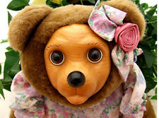 """Robert Raikes 1993 Applause Wood Plush Brown Bear 17"""" Sophie Mothers Day New"""
