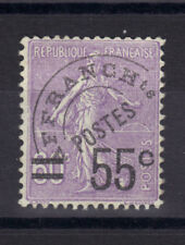 PREOBLITERE N°47  55 s 60 violet  Neuf**  gomme  1922-1947 ++cote 350