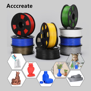 Acccreate 1Kg 1.75mm PLA Filament For Creality Ender 3 Pro CR-10S 3D Printer