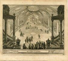 Vue de l'interieur du Pantheon. Grabado por Pieter Van der Aa