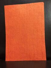 NEW - HANDMADE PAPER A4 - WEAVE DESIGN - ORANGE