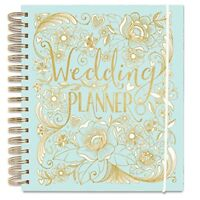 Rachel Ellen Duck Egg Wedding Planner - Organised Notebook - Gold Detailing