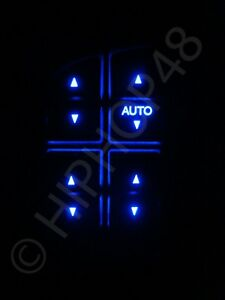 Ford BA BF XR Full Set Power Window Switches - BLUE Led Illuminated