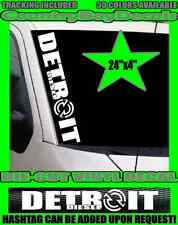 DETROIT DIESEL Vertical Windshield Vinyl Decal Sticker TRUCK Turbo LIFTED Coal