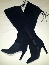 Kelsi Dagger Over The Knee Black Suede ladies Boots size 7 M w/ the original box