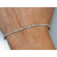"7.00 Carat Round Cut VVS1 Diamond Tennis Bracelet 14k White Gold Over 7.25"""