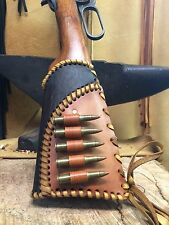 Leather Gunstock Cover shell Holder With Matching Lever Cover Winchester ..etc