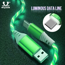 Glow Flowing Fast USB Type-C Charger Cable For Samsung A51 A71 S20 S10 S9 Huawei