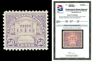 Scott 570 1922 50c Arlington Issue Mint Graded XF-Sup 95 NH with PSE CERTIFICATE