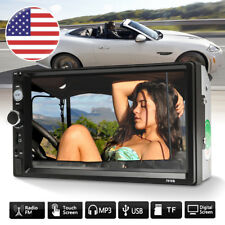 "7"" Touch Screen 2 Din Car MP5 Player Bluetooth Stereo Radio FM W/ Backup Camera"