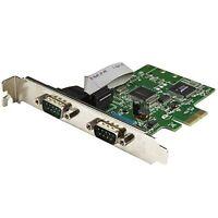 StarTech.com 2-Port PCI Express Serial Card with 16C1050 UART - RS232 - PCIe