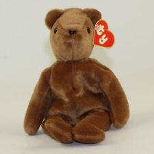 TY Beanie Baby - TEDDY BROWN - OLD FACE (1st Gen Hang Tag - MWCTs)