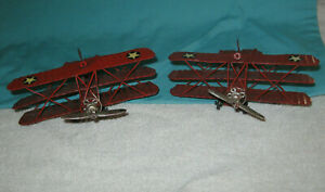Vintage Metal Red Triplane Toy