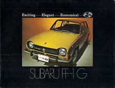 Subaru FF-1 1972 Export Market Foldout Sales Brochure In English 1100 1300 G