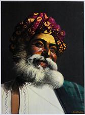 1950s India maharaja (?) w/turban by K.A. SHUKLA*signed