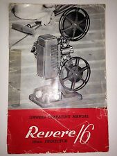REVERE 16MM PROJECTOR MODEL 48 *OWNER'S OPERATING MANUAL ONLY* PDF FILE!!