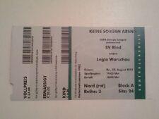 Ticket SV RIED - LEGIA WARSAW 2012/13 Europa League Poland Austria Polska