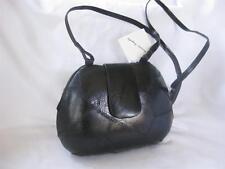 Vintage genuine Frogskin Philippines Black clam shell Clutch / Shoulder Bag NWT!