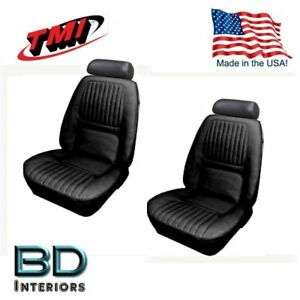1970 Chevy Camaro Coupe Black Front Seats Only Upholstery Set by TMI Products