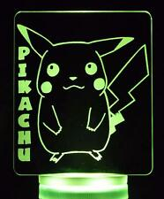 Pikachu Pokemon - Colour Changing LED + Remote Night Light Lamp Children's Room