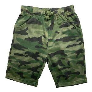 Boys Girls Camouflage Shorts Cotton Camo Army PE School Summer Gym Sports