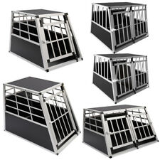 Small/Large Aluminium Dog Pet Puppy Cage Car Travel Crate Carrier Dog Kennel Box