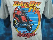 NOS vtg 80s KAWASAKI NINJA 1000R MOTORCYCLE T-Shirt LARGE motocross biker thin