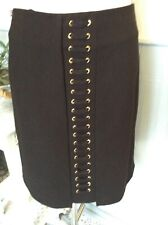 BIBA SKIRT CORSET DETAIL BLACK SHORT A LINE UK 10